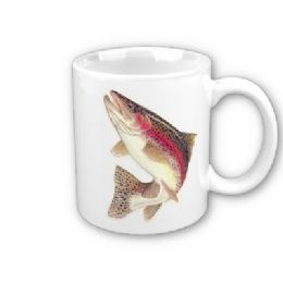 Personalised Fishing Mug Rainbow Trout With Photo Or Name